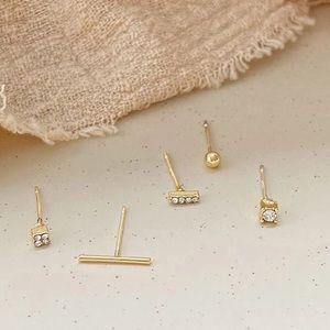 9.25 sterling silver - 5 piece set ear studs